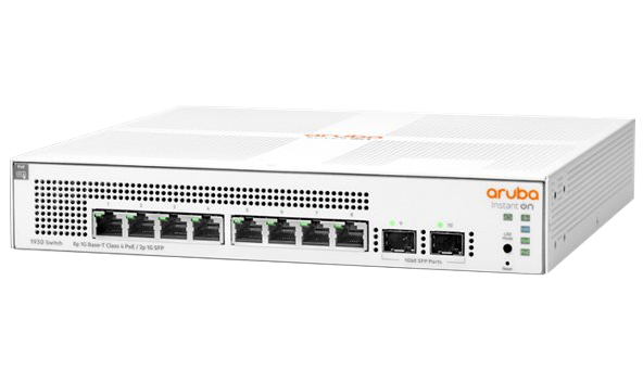 Switch HP Aruba Instant On 8x1GbE 2xSFP PoE JL681A