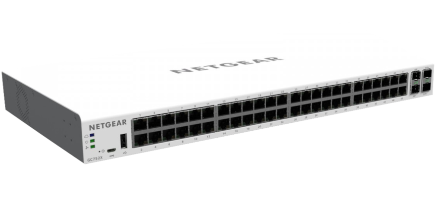 Switch Netgear GC752X 48xGEth 2x10GEth/SFP 2x10G/SFP+ Rack19""