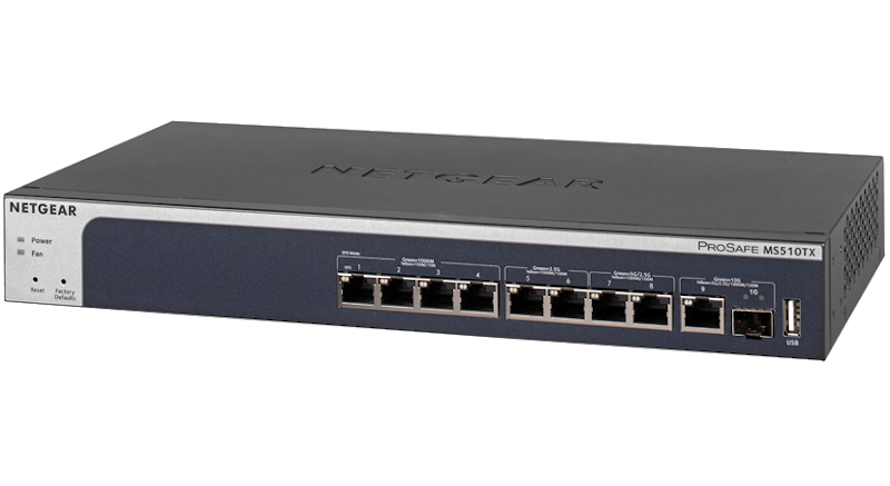 Switch Netgear MS510TX ProSafe Smart 4x1G 2x2,5G 2x5G 1xCombo10G/SFP+