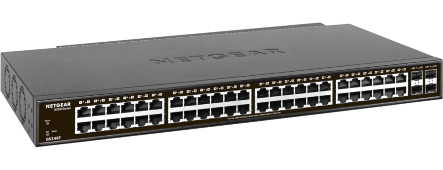 Switch Netgear S350 48P GE Smart 48x1GBE 4xSFP/1G GS348T