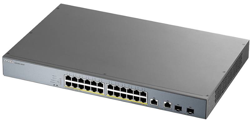 Switch Zyxel GS1350-26HP 26xGEth + 2xSFP / 24xPoE(375W)CCTV